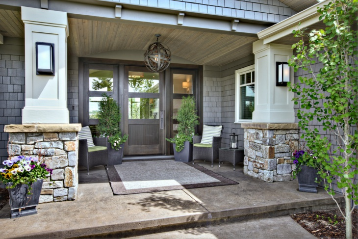 contemporary porch entrance design