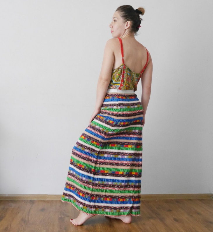 Colorful Striped Maxi Skirt