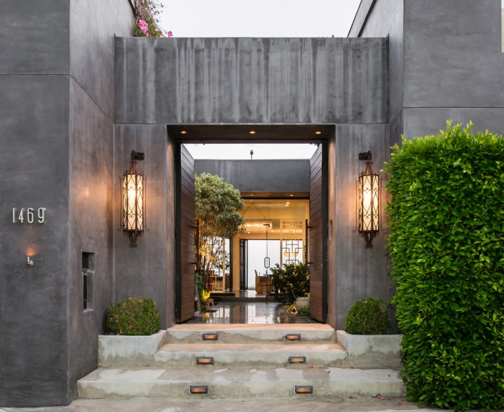 outdoor entrance lighting idea