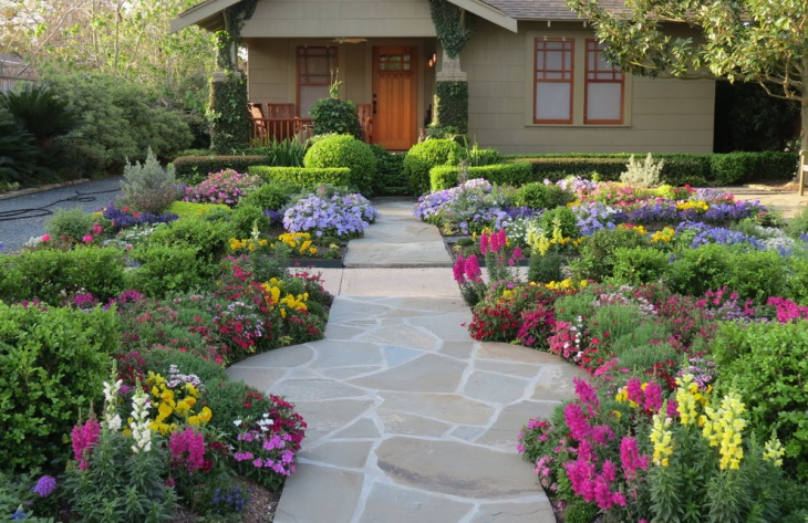 flower garden entrance idea