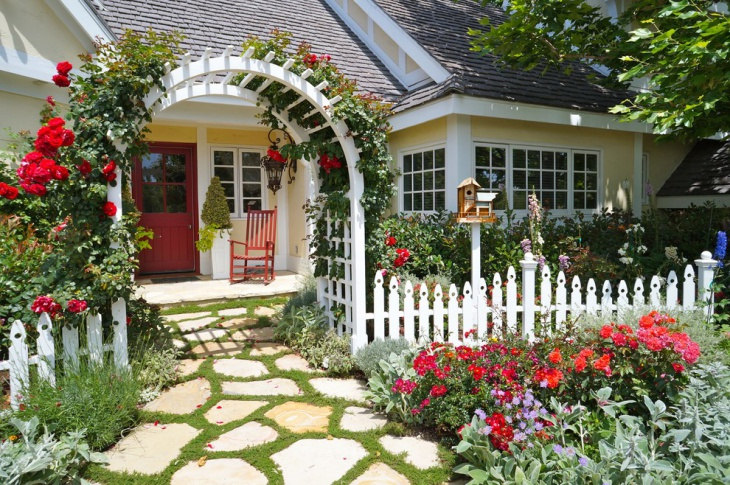cottage garden entrance design