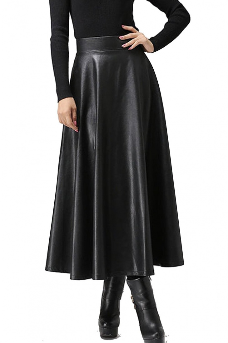 High Waisted Formal Maxi Skirt