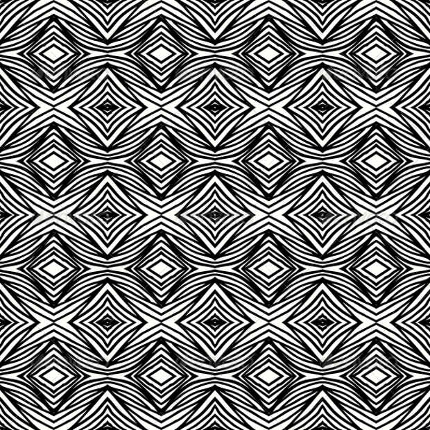 black and white geometric pattern