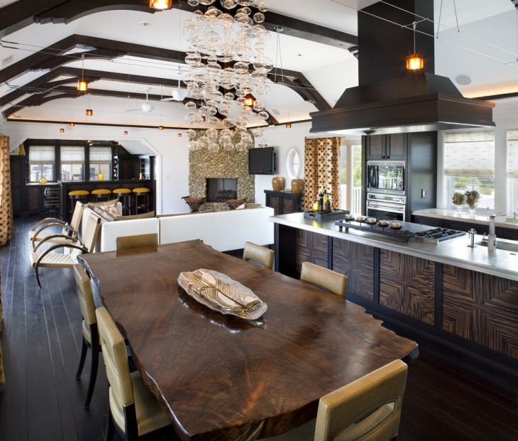 rustic kitchen dining room design