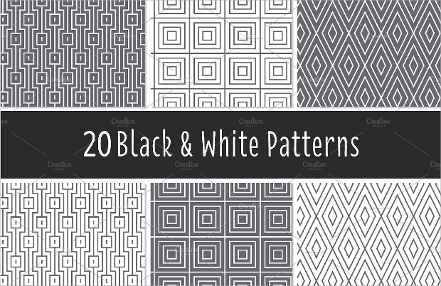 high quality black and white pattern