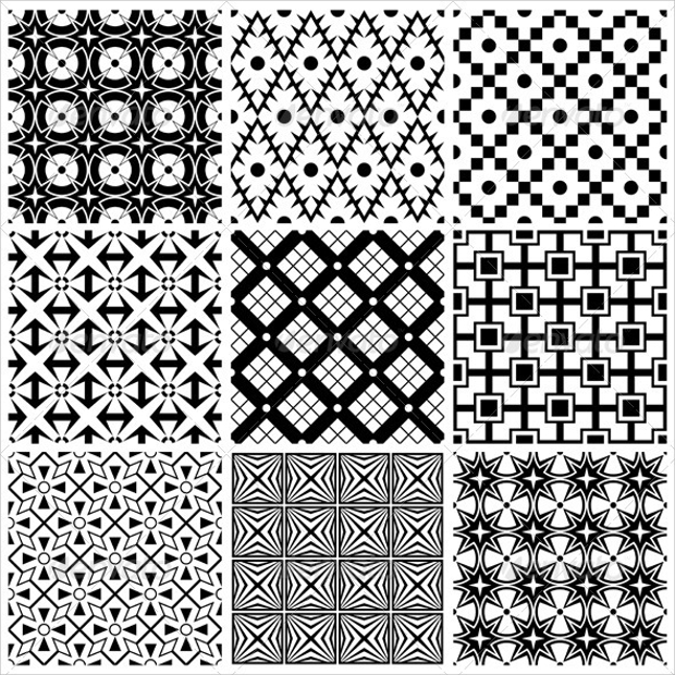 symmetry black and white patterns