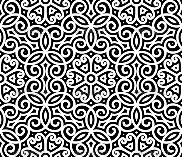swirl black and white pattern