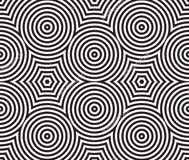 black and white psychedelic pattern
