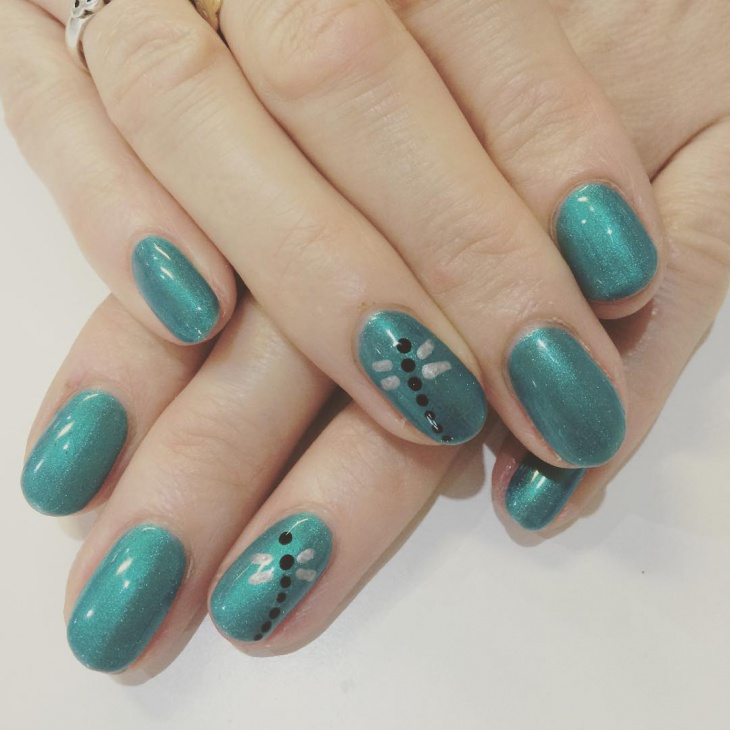 Dragonfly Shellac Nails Idea