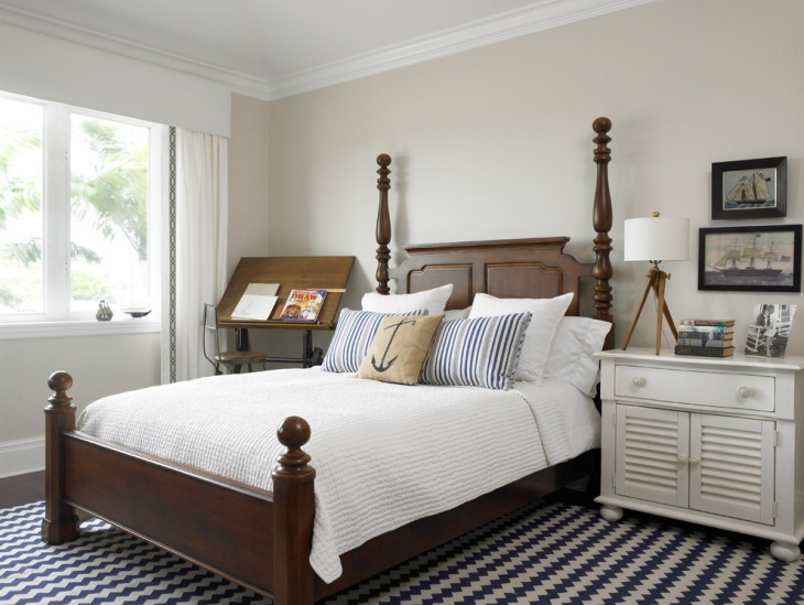 14 nautical bedroom designs ideas design trends for Bedroom ideas nautical