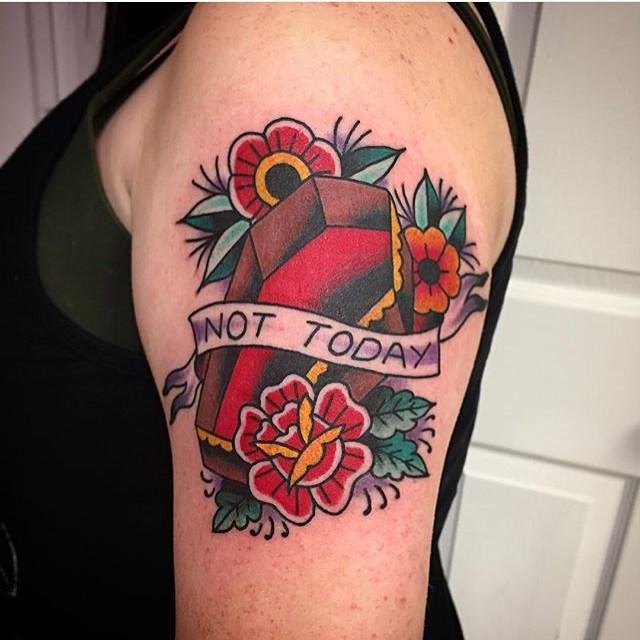 Old School Sleeve Tattoo