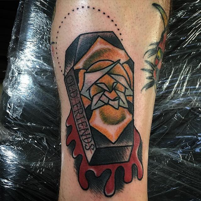 Love Coffin Tattoo Design