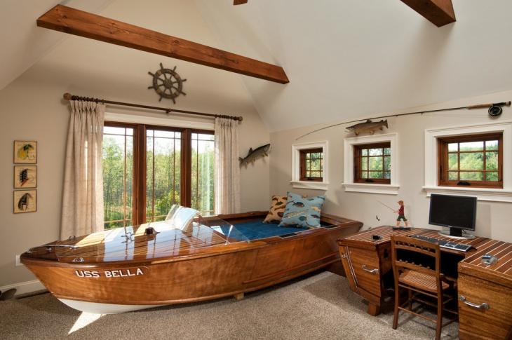 unique nautical bed design