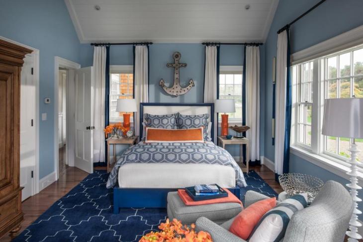 Beach Style Nautical Bedroom Idea