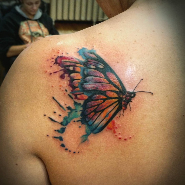Watercolor Butterfly Tattoos: 40+ Watercolor Tattoo Designs, Ideas