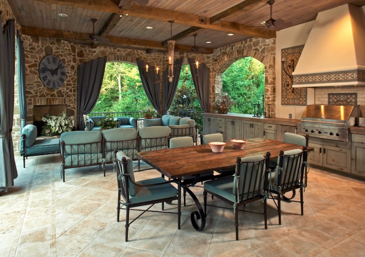 rustic outdoor kitchen furniture