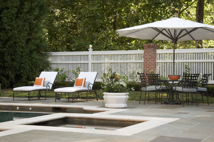 white outdoor lounge furniture
