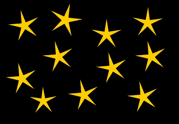 Shining Star Clipart Design