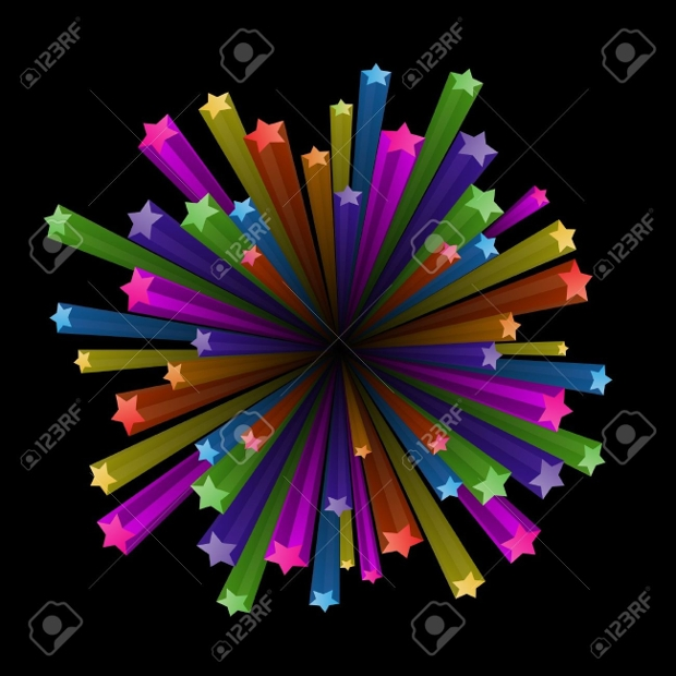 colorful stars clipart