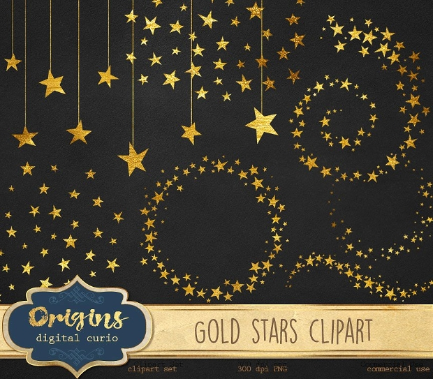Gold Star Clipart Design