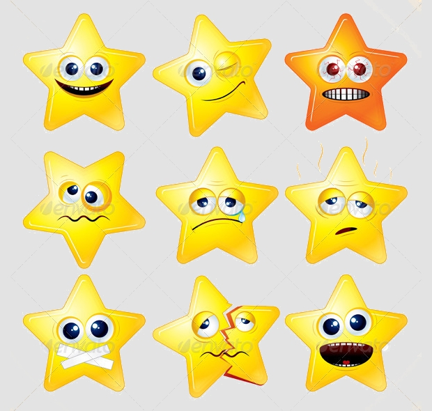 Funny Cartoon Stars Clipart