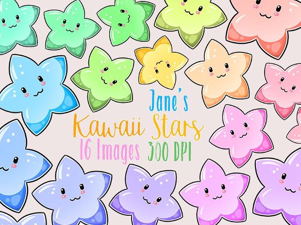 Kawaii Stars Clipart