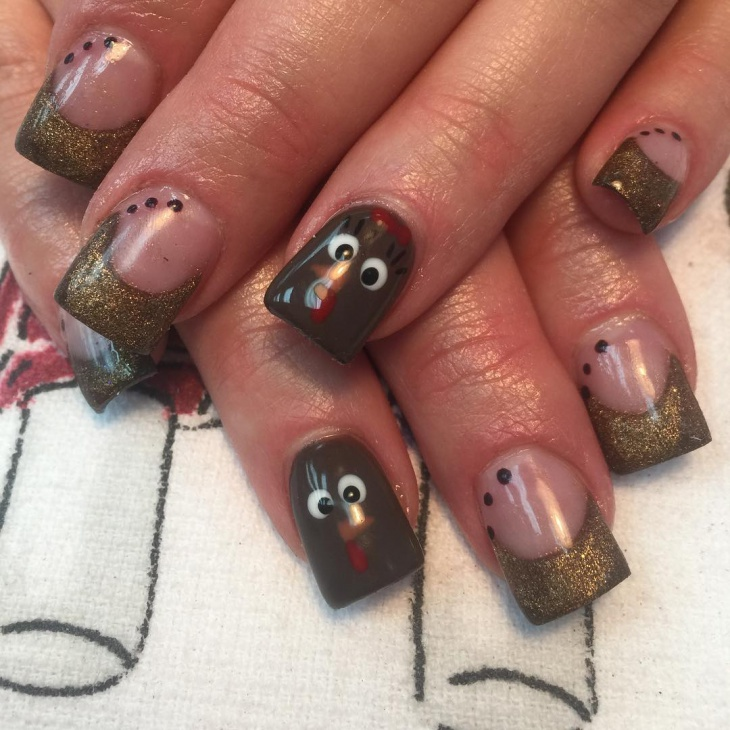 thanksgiving acrylic tip nails