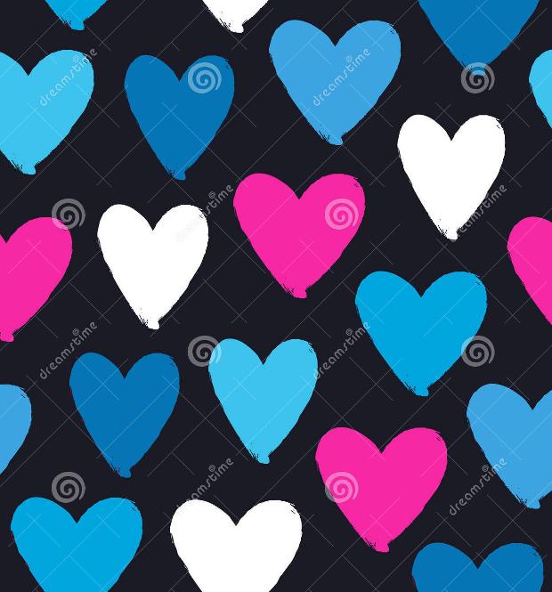 drawn multicolor heart silhouette