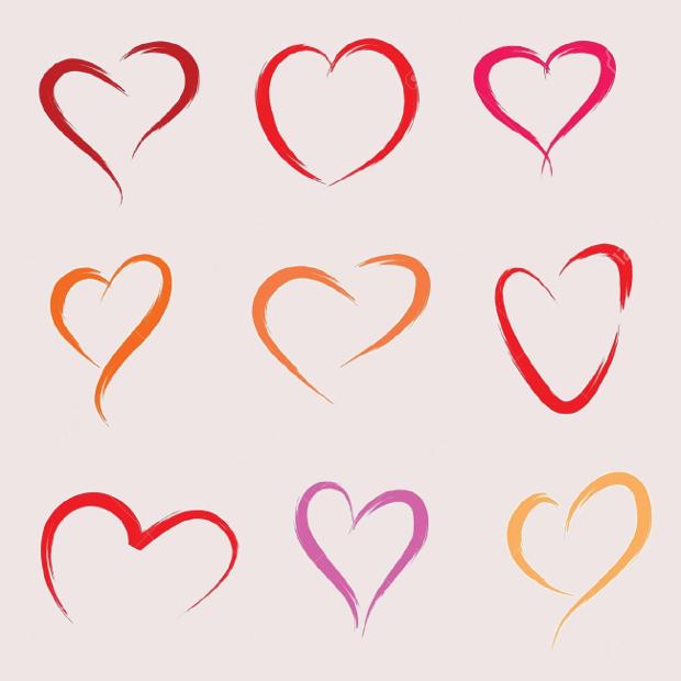 scribble heart silhouette