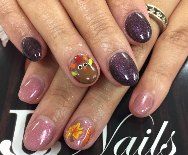thanksgiving turkey round nails