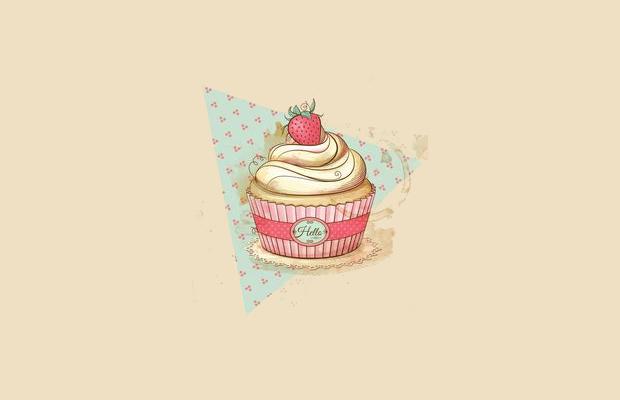 vintage cupcake clipart
