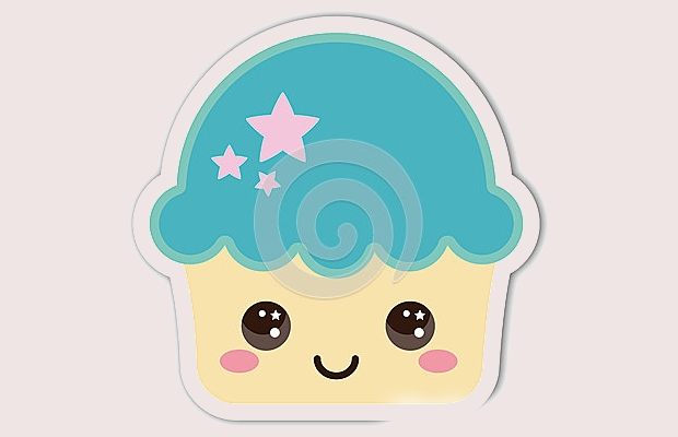 smiling cupcake clipart