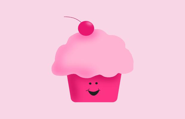 happy cupcake clipart
