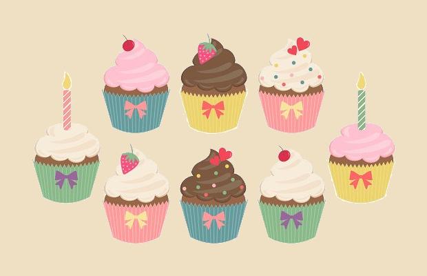 cherry cupcake clipart