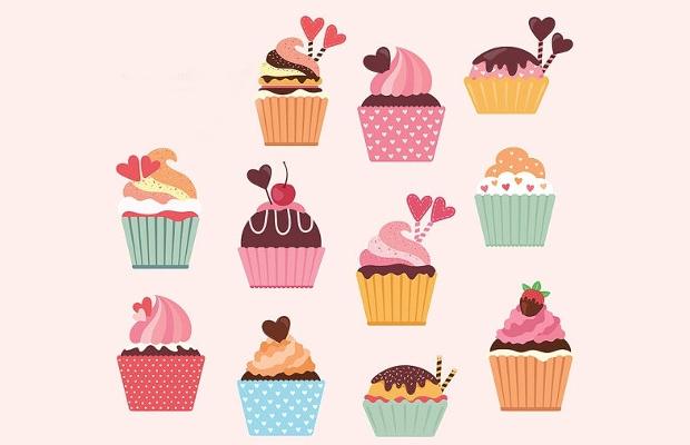sweet cupcake clipart design