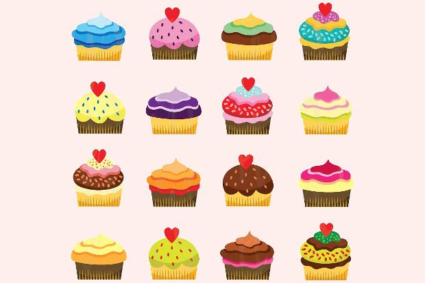 quality cupcake clipart design
