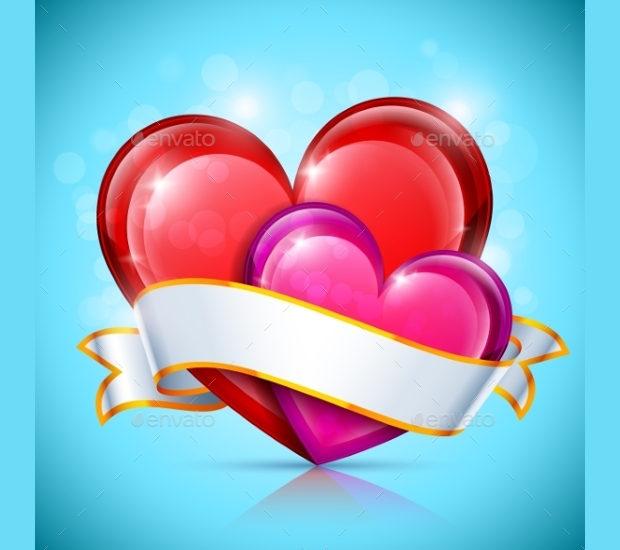 glossy heart icon