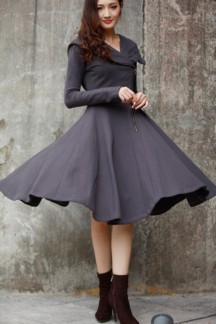coat dress with sleeves