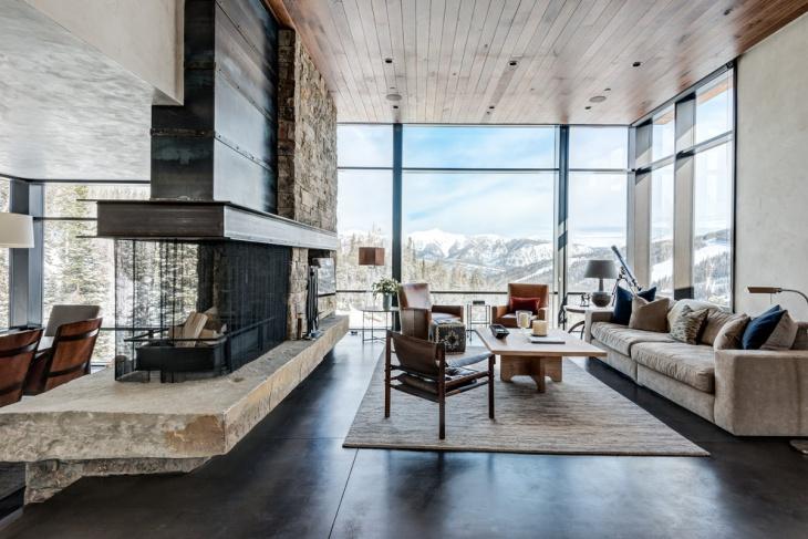 Rectangle Shaped Living Room Idea