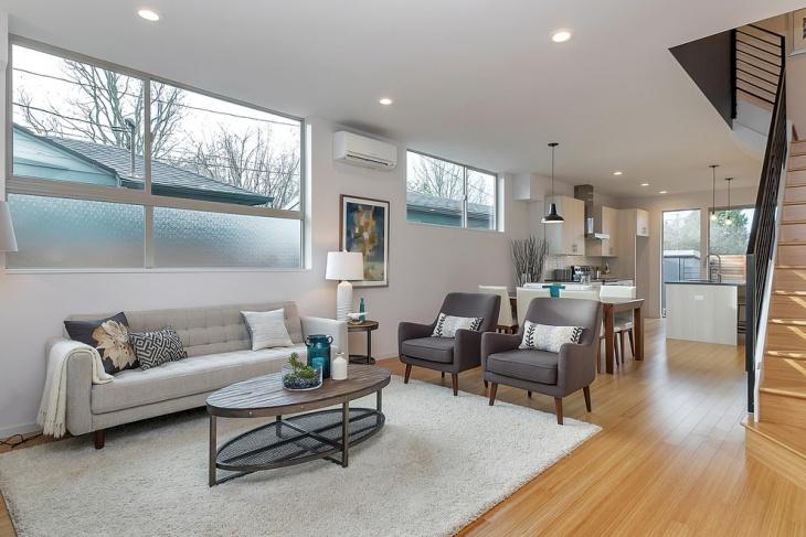 Transitional Living Room Design