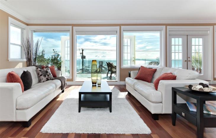 Beautiful Living Room with Hardwood Floor