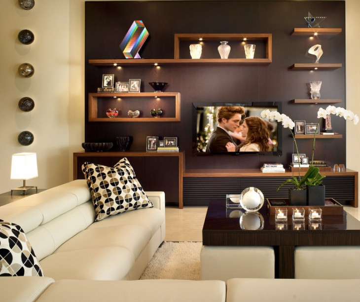 15+ living room wall shelf designs, ideas | design trends