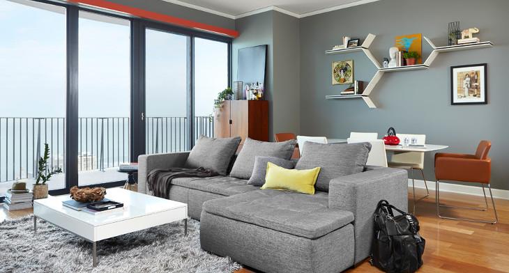 15+ Living Room Wall Shelf Designs, Ideas | Design Trends ...