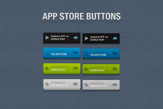 delicious app store chunky buttons