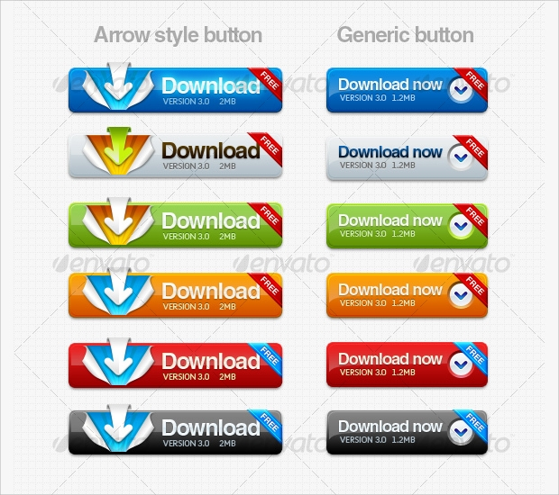 colorful delicious download buttons