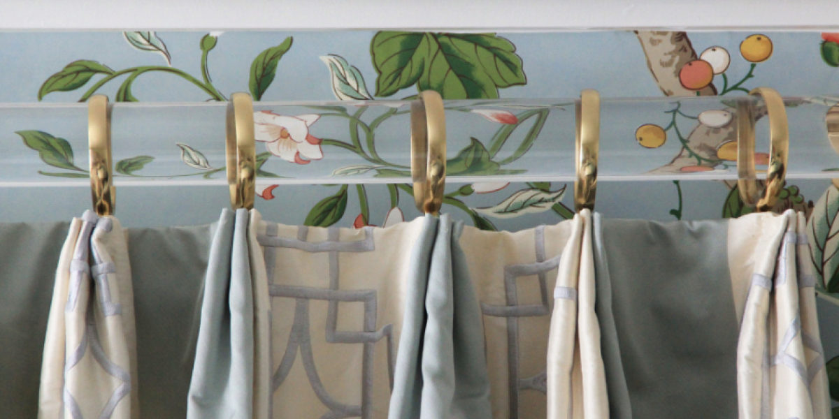 dramatic curtain rods