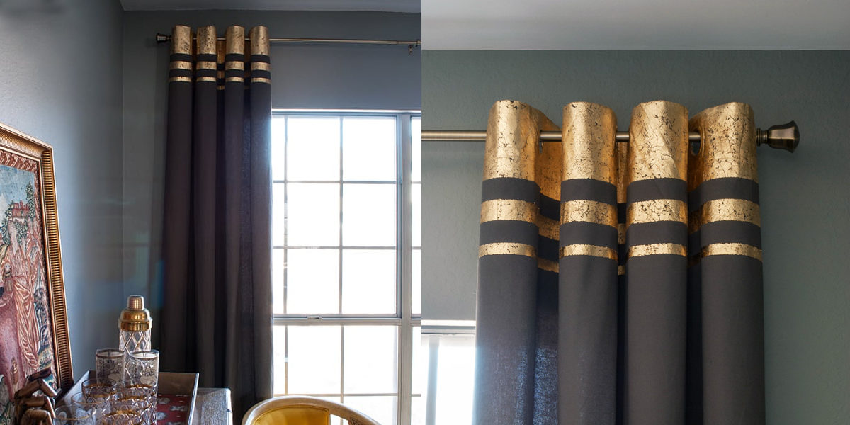 Bring In A Touch Of Luxury With Gilded Curtains The Look Is Effortless And Easy All You Need To Create Horizontal Pattern On Top Using Gold Leaf