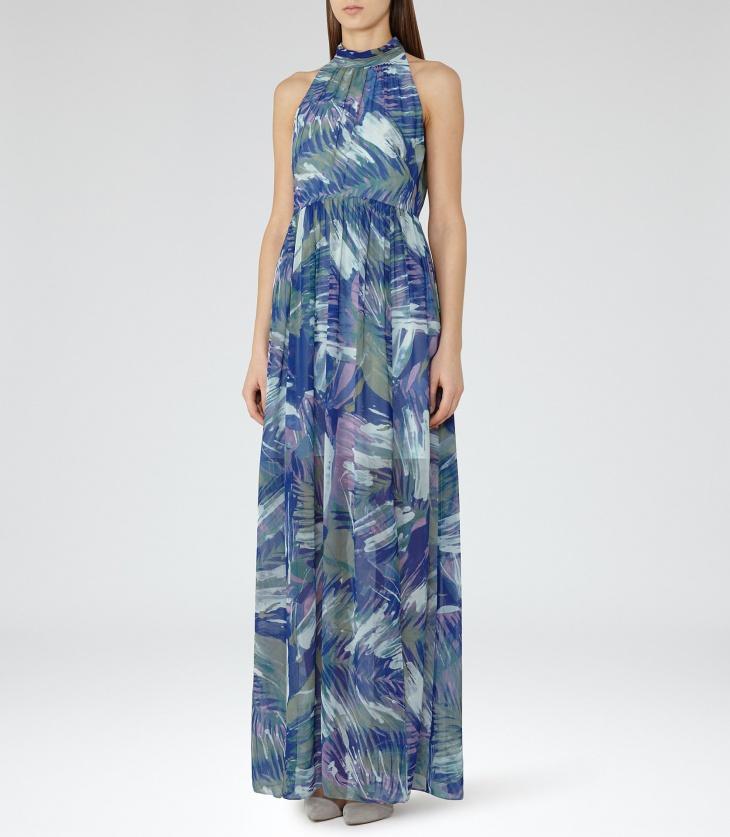 Floral Maxi Prom Dress