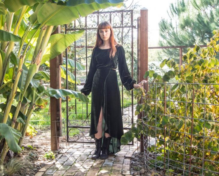 Velvet Split Maxi Dress