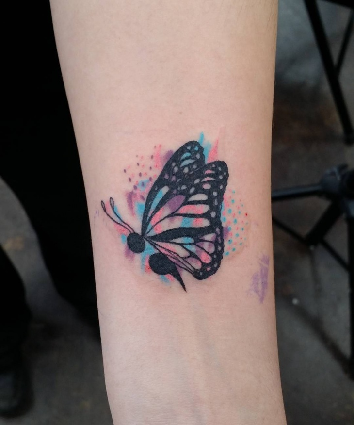 Watercolor Butterfly Tattoos: 35+ Semicolon Tattoo Designs, Ideas